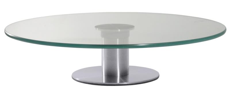 Edelstahlfuss Mit Glasplatte : Contacto Drehbare Tortenplatte aus Glas ...
